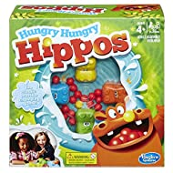 Classic Hungry Hippos game is marble-chomping, hippo-feeding fun 4 hippo heads and bodies plus marbles for them to chomp 20 marbles One golden marble Clean-up is a snap with the marble and hippo storage