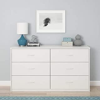 Mainstays 6 Drawer Dresser, White Stipple