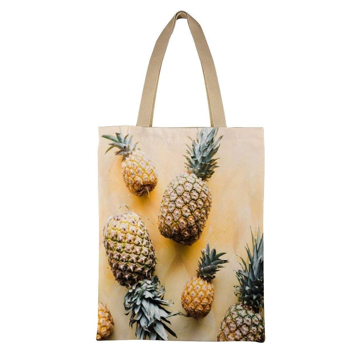 温かいネコ巨大Pineapple Tapestry Yellow Tropical Ananas Wall Hanging Fruit Tapestries レディース キャンバストートバッグ ハンドバッグキャンバスショルダーバッグ通勤通学 大容量 軽量