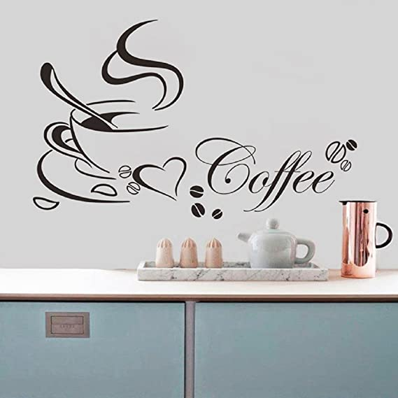 entrepreneur.cd Kitchen Coffee House Cup Wall Stickers Decal Mural ...