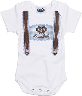 P. Eisenherz Trachten Baby Body - Lausbub - weiß