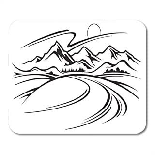 Mouse Pads Summit Black Road Mountain Landscape White Path Graphic Mouse Pad for notebooks,Desktop Computers mats Office S...