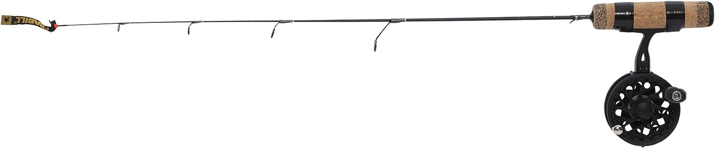 Frabill Straight Line 101XLA 27Inch Quick Tip Ice Fishing Combo, Black
