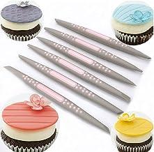 6pcs / Set Fondant gâteau de Sucre Soft Tip Shapers Outil de modélisation de Petit gâteau gâteaux décoration Fleur Modelin...