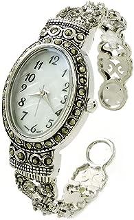 silver marcasite watch