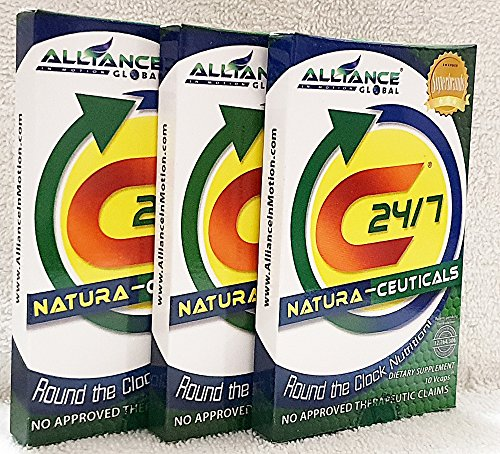 3 Boxes C24/7 Natura- Ceuticals Dietary Food Supplement of 10 Tablets Pack (30 Tablets)