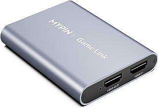 MYPIN HDMI キャプチャーボード USB3.0 30fps 4K 60fps ビデオキャプチャー 録画 ゲームキャプチャー 1080P@60FPS 録画対応 Windows Linux OS Android OS YouTube swi...