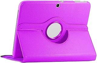 ebestStar - Funda Compatible con Samsung Galaxy Tab 3 10.1 GT-P5210, 10 P5200 P5220 Carcasa Cuero PU, Giratoria 360 Grados, Función de Soporte, Violeta [Aparato: 243.1 x 176.1 x 8mm, 10.1'']