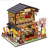 Fsolis Miniatura de la casa de muñecas con Muebles, Equipo de casa de muñecas de Madera 3D, más...