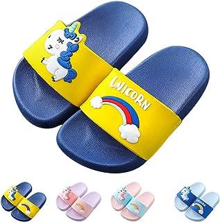 f949936f317f Kids Unicorn Slide Sandals Non-Slip Summer Beach Water Shoes Boys Girls  Shower Pool Slippers