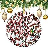 Adornos de Navidad, Donde Waldo Ser Santa Ornamento de árbol colgante de decoración regalo para familiares y amigos, 7,6 cm