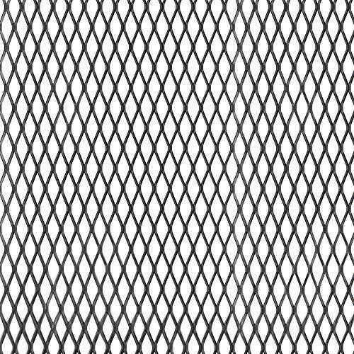 GAH-Alberts 465896 Streckmetallblech - Aluminium, schwarz eloxiert, 250 x 500 x 1 mm
