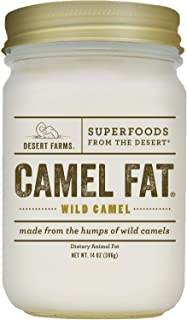 Real Organic Cooking Camel Fat - Quickly Melting Use For Fry [High Smoke Point] - 31 Fatty Acids & Gluten-Free Paleo & Keto - Made In The USA [14 oz]