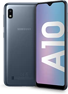 "Samsung Galaxy A10 Smartphone, Display 6.2"" HD+, 32 GB Espandibili, RAM 2 GB, Batteria 3400 mAh, 4G, Dual SIM, Android 9 P..."