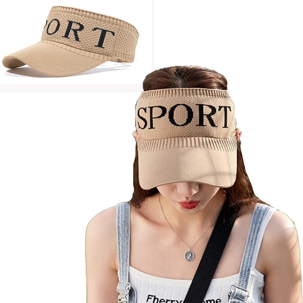 Yang Xin.Style Women's Sunscreen Sports Sun Visor, Sports Breathable Empty top Summer Outdoor Sports Cotton Baseball Cap