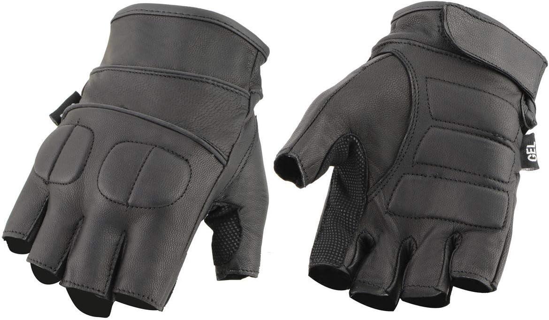 Milwaukee NEW before selling Leather SH462 Men's wi Detroit Mall Gloves Fingerless Black