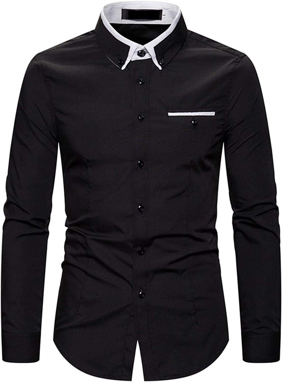 LEIYAN Mens Fashion Button Down Dress Shirts Casual Long Sleeve Tailored Business Work Designer Cotton Shirts