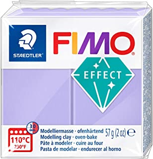 STAEDTLER FIMO Effect 8020-605 Oven Hardening Modelling Clay, 57 g - Pastel Lilac