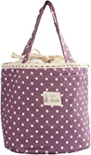 Outdoor camping picnic bag Polka Dot Suit Portable Lunch Bag Insulated Canvas Warm Food Picnic Lunch Bag Lunch Box Bag Tot...