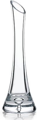 Garbanzo-Shop, Jarrón de cristal, altura de 25 cm para flores individuales (rosas) o pequeñas jarrones de cristal.
