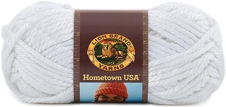 Lion Brand Yarn 135-100R Hometown USA Yarn, New York White