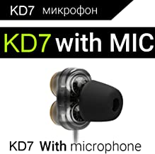 QKZ KD7 HiFi Wired Earphones in-Ear Headphone 3.5mm Jack, Bass Stereo Ultra Clear Sound, Ergonomic Comfort Design for Workout, Running, Gym - Black