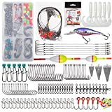 Saltwater Surf Fishing Tackle Kit,161pcs Surf Fishing Bait Rigs Saltwater Lures Wire Leaders Sinker Weight Hooks Swivels Beach Gear Accessories
