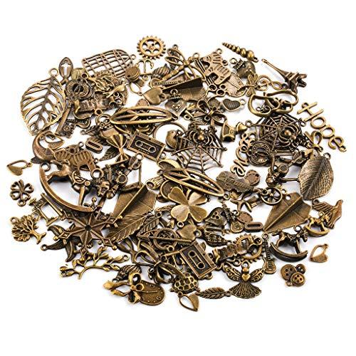 200g Antik Vintage Charm Anhänger DIY handgemachte Bronze Accessoires Halskette Anhänger Schmuck Machen Lieferungen Schmuck Basteln Armband Halskette Ohrring Gemischte Charms