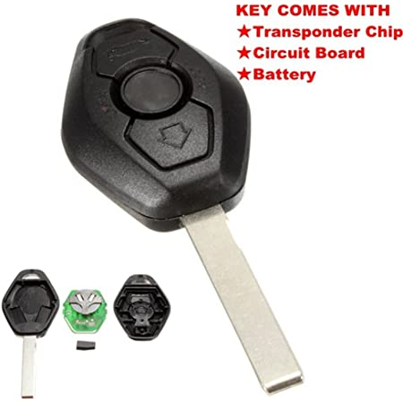 Katur 1 Stücke 3 Taste Diamantfernschlüssel Für Bm W E38 E39 E46 Ews System 433 Mhz Mit Pcf7935as Chip Hu92 Klinge Auto
