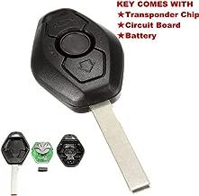 KaTur 1Pcs 3 Button Diamond Remote Key for BMW E38 E39 E46 EWS System 433MHZ with PCF7935AS Chip HU92 Blade