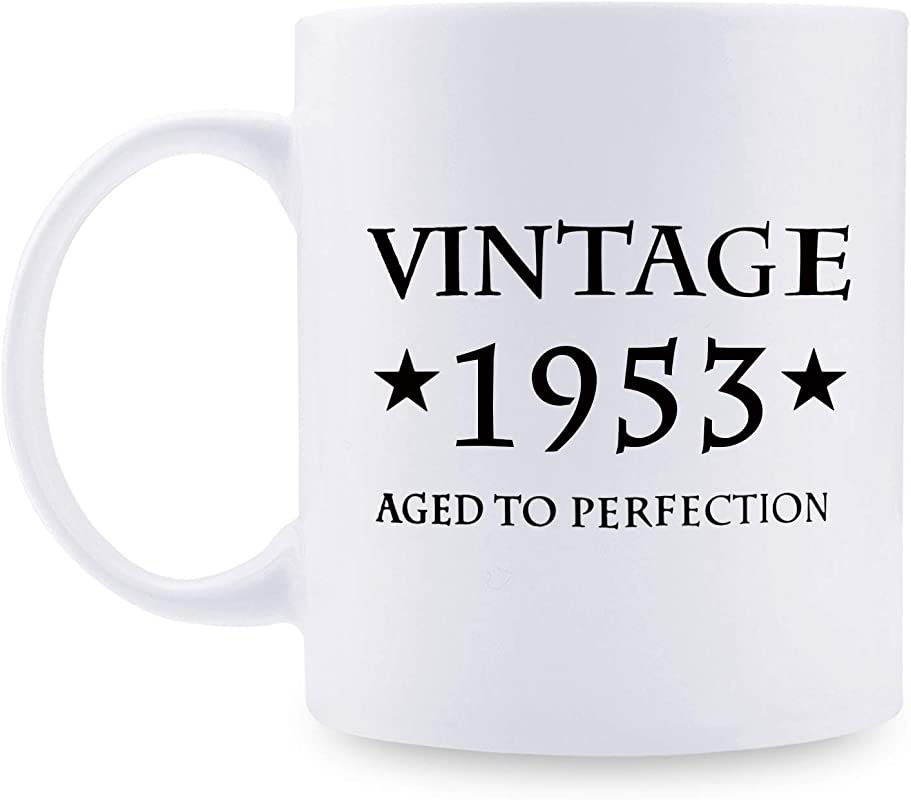 66th Birthday Gifts For Women 1953 Birthday Gifts For Women 66 Years Old Birthday Gifts Coffee Mug For Mom Wife Friend Sister Her Colleague Coworker 11oz