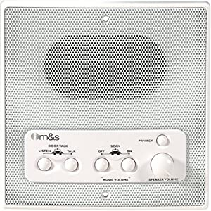 M & S Systems DMC1RW Weather Resistant Remote Station Speaker