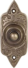 Wired Iron Doorbell Chime Push Button in Antique Brass Finish Vintage Decorative Door Bell with Easy Installation