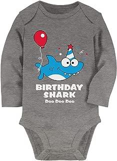 Tstars Baby Shark Doo doo doo First/2nd Birthday Shark Outfit Baby Long Sleeve Bodysuit