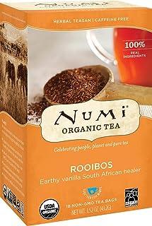 Numi Organic Tea Rooibos, 18 Count Box of Tea Bags, Herbal Teasan (Packaging May Vary)