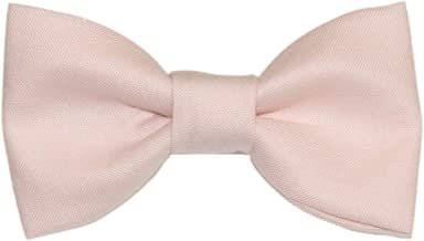 Toddler Boy 4T 5T Pale Pink Clip On Cotton Bow Tie
