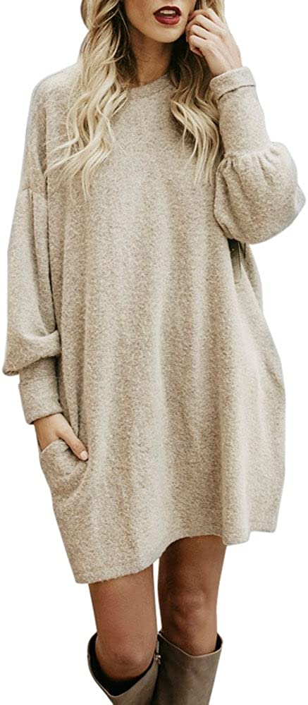Women's Fashion Ranking TOP4 Long overseas Sleeve V Dress Sweatshirts Thin T Neck