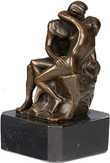 Toperkin Classical Metal Statue Rodin Artwork Kiss Bronze Sculpture TPY-347