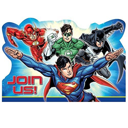8Justice League Party Einladung Batman The Flash Superman Green Lantern Laden Set Postkarte für