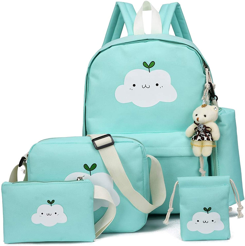 7c4ac6bc390b Lamdoo 5pcs Fashion Women Canvas School Girl Backpack Travel ...