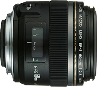 Canon EF-S 60mm f/2.8 Macro USM Fixed Lens for Canon SLR Cameras (Renewed)