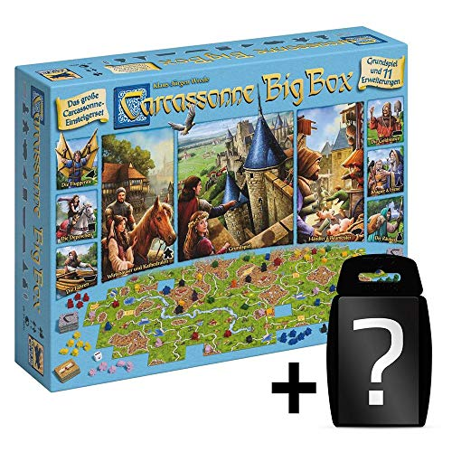 Carcassonne - Big Box 2017 - Brettspiel-Set | DEUTSCH | enthält 11 Erweiterungen | Spiel des Jahres 2001 | Set inkl. Kartenspiel