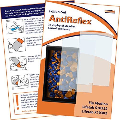 mumbi Schutzfolie kompatibel mit Medion Lifetab S10352 Folie, Lifetab X10302 Folie matt, Bildschirmschutzfolie (2X)