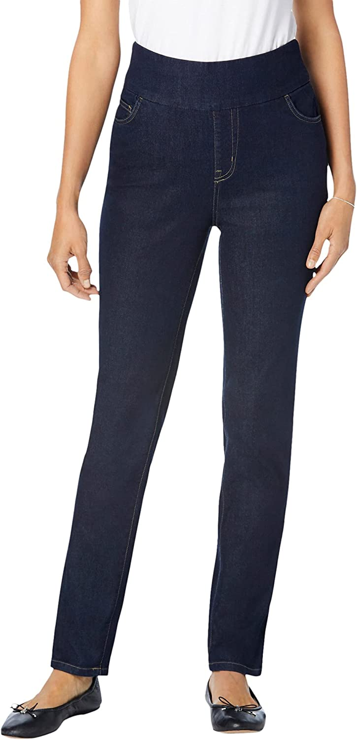 Woman Within Women's Plus Size Pull-On Skinny Jean