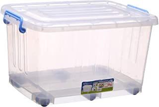 Khorshed Plast Rotana Large Plastic Box With Wheels - Clear