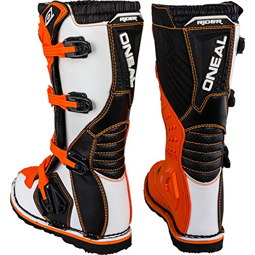 O'Neal Rider Boot MX Stiefel Orange Moto Cross Motorrad Enduro, 0329-3, Größe 43 - 3