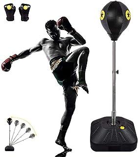 GYPPG Bola de Velocidad de Boxeo para Saco de Boxeo Bolsa de Boxeo Ajustable en Altura con Soporte para agarrar Kickboxing Karate Muay Thai