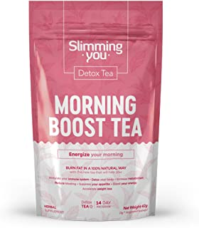 Detox Tea 14 Day Weight Loss Daytime Tea for Women & Men - Boost Energy Level, Suppress Appetite, and Increase Metabolism, Slim Tea for Belly Fat (14 Bags)