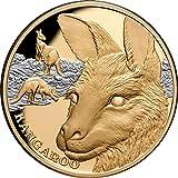 Power Coin Kangaroo Canguro Wildlife Up Close 1 Oz Moneda Oro 100$ Niue 2021