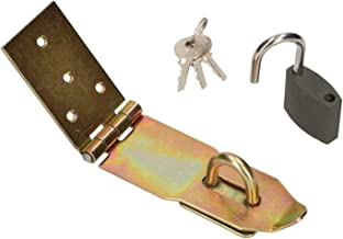 KOTARBAU overval met hangslot 3 verschillende maten geel verzinkt overloopscharnieren poortband overtrek veiligheidsoverva...